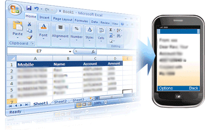 SMS from Excel Plugin