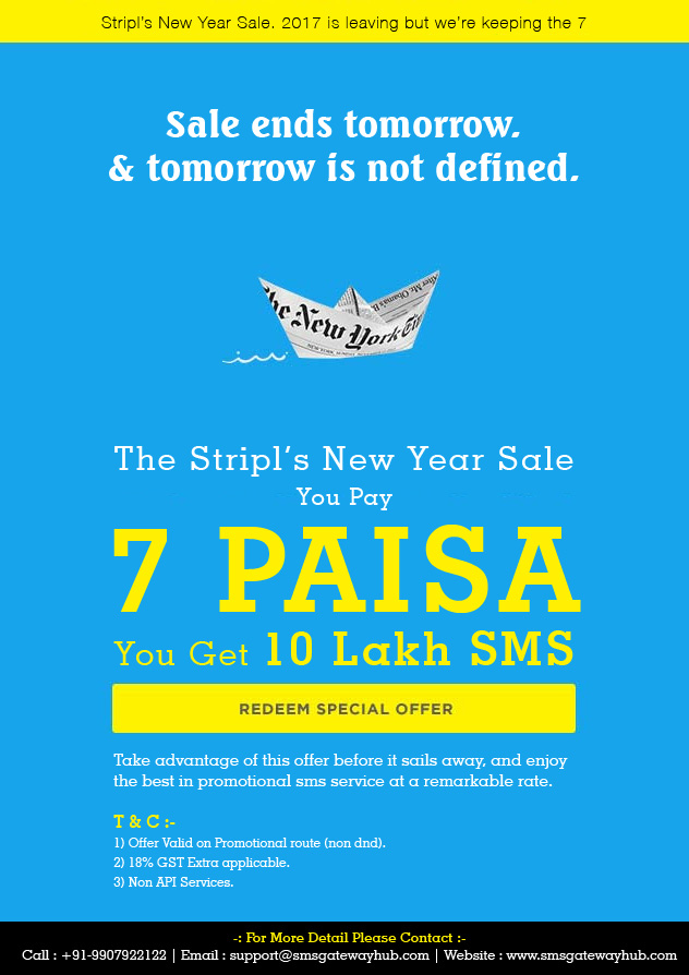 7 Paisa Bulk SMS Promotional India, Hot offer on Bulk SMS